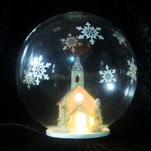 wholesale led glass ball christmas ornaments with villages inside