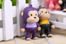 USB Flash Drives Creative sports car u disk, three-dimensional sit-happy monkey 4GB sitting happy monkey U disk special