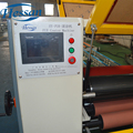 Latest technology electric full automatic laminating mdf pvc coating machine