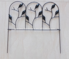 Art Lawn Edge Ornament Flower Bed, Decorative Outdoor Stake, Antique Small Metal Panels, Cheap Wrought Iron Garden Wall Fence