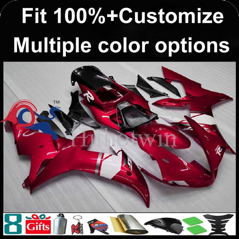 Injection mold red Body motorcycle cowl for Yamaha YZF-<strong>R1</strong> 2002-2003 <strong>02</strong> <strong>03</strong> YZFR1 2002 2003 <strong>02</strong>-<strong>03</strong> ABS Plastic Fairing