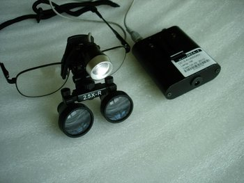 1W LED headlamp with magnifier 3.0X surgical loupes dental loupes