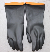 50g-250g Black color Rubber industrial Gloves/long Sleeve industrial Latex Safety Gloves