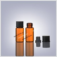 5ml amber glass vial with butyl rubber stopper & plastic cap