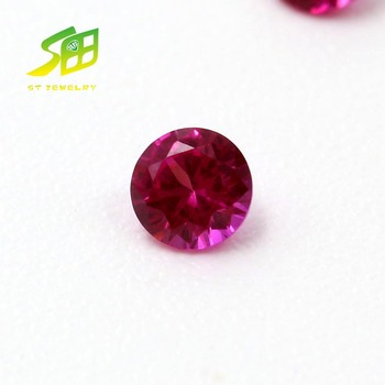 factory sale price round shanpe synthetic ruby 5# cabochon corundum price