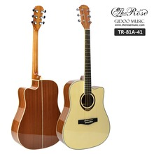 4/4 inch cutaway guitar high gloss acoustic electric guitar