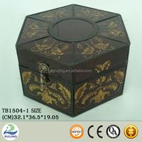 Metal Antique Asian Style Decorative Jewelry Box