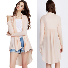 Fashion cream latest blouse for girls women wear short front long back top