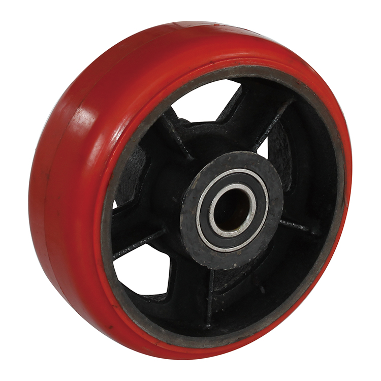 "10"" PU PP NYLON Double ball bearing  Industrial Caster"