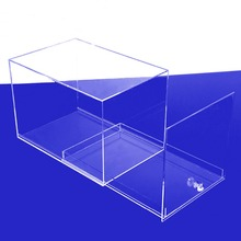 Slide Out Acrylic Shoe Box, Clear Plexiglass Perspex Acrylic Shoe Display Box