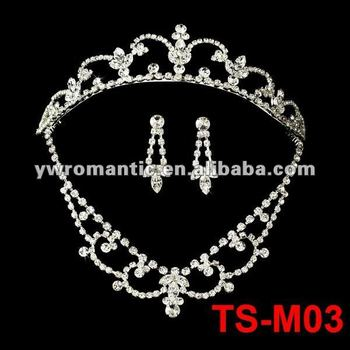 fashion bridal tiaras and necklace sets