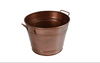 Copper Finish Vintage Gold Metal Bucket Planter