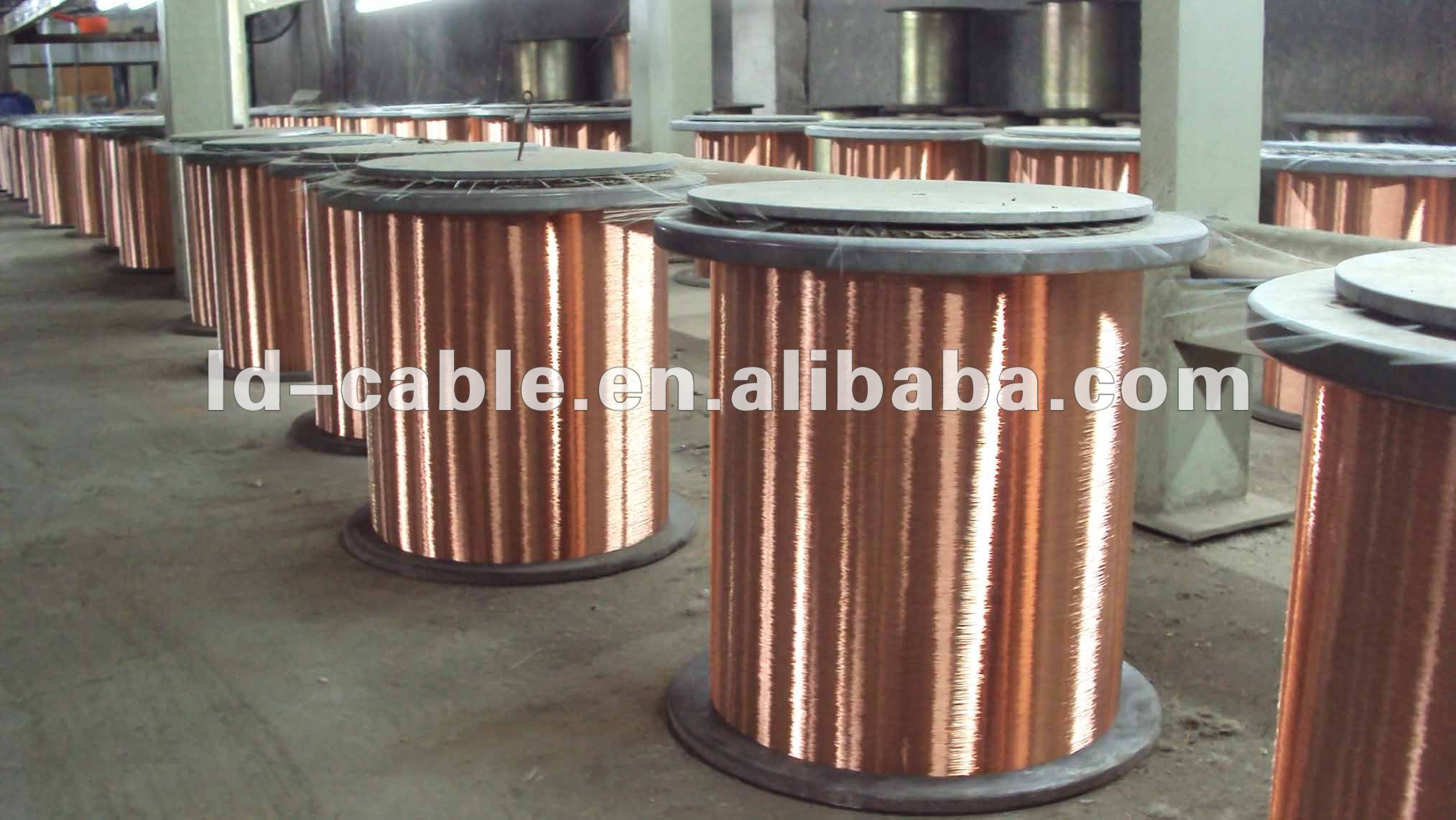 0.10-3.0 mm copper coated aluminium wire CCAM bare wire