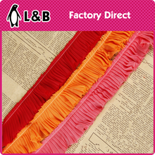 Colorful Polystery Wrinkled Chiffon lace Fold Lace For Clothes Or Shoes