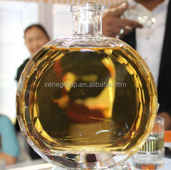 700ML HAND POLISHED GLASS BOTTLE FOR GIFT