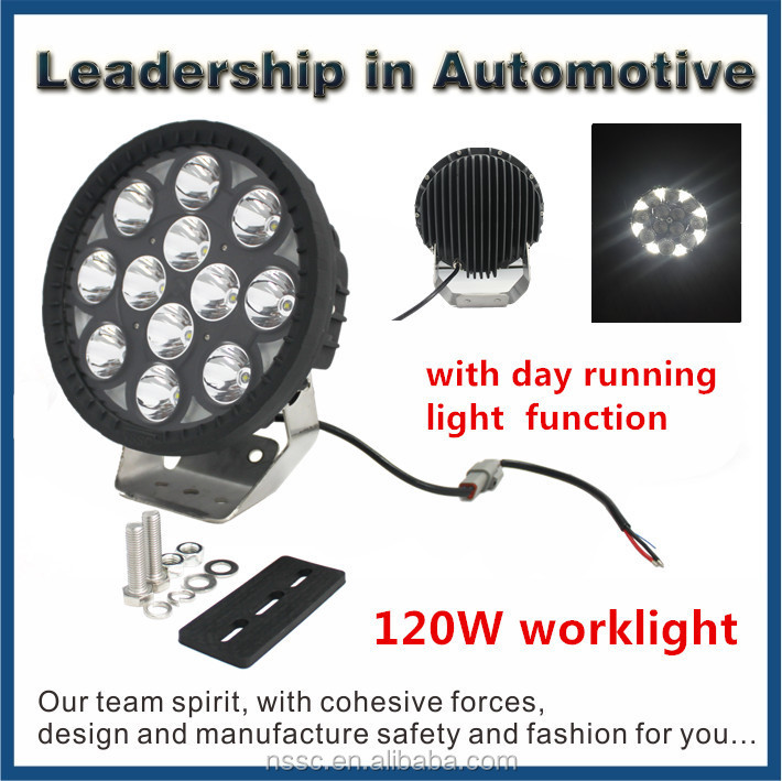 120W Waterproof Offroad Led Work Light Driving Light Truck Tractors Machine Motorcycle Light