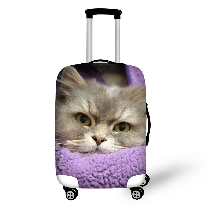 Cute sleeping cat print suitcase protective wholesale luggage cover