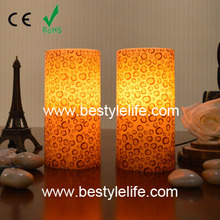 Battery operated flameless animal pattern printed led andle light,yellow flicker candle