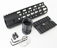 "Hot New Style AR15/M4/M16 7"" Carbine length Tactical Keymod Slim Free Floating Rail Handguard Mount With Steel Barrel Nut"