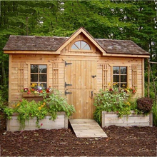 2016 Cheap Pine wood prefab wooden garden house