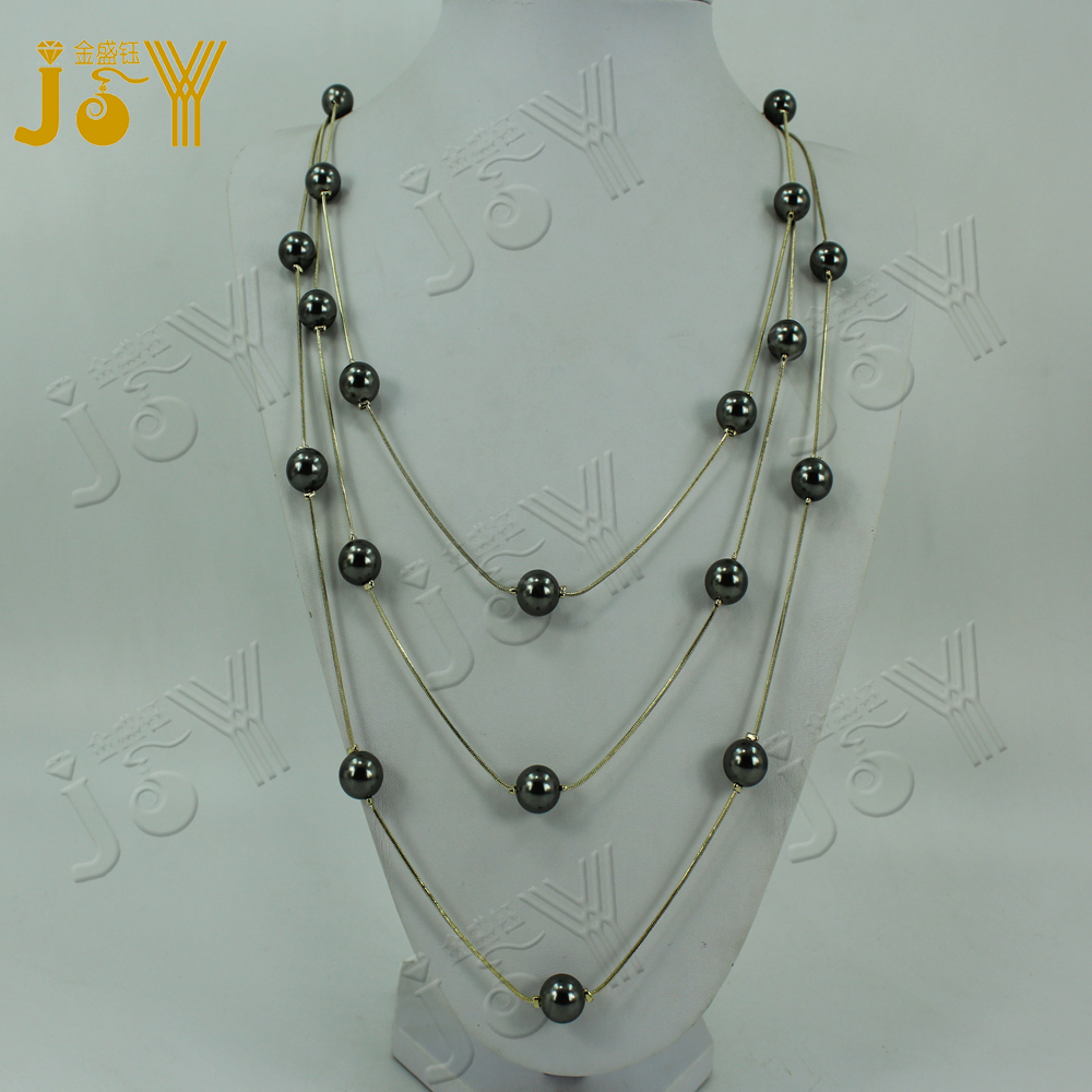 wholesale gold plated chains with costume pearl beaded necklace jewelry sets for girl women party wedding