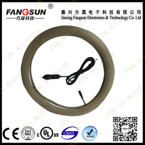 Auto warm Steering Wheel Cover for car accessory off-white