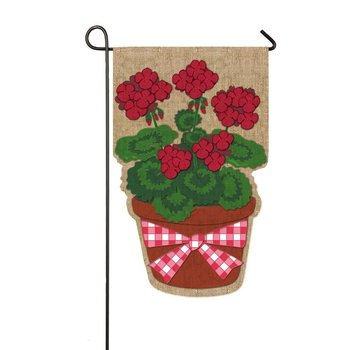 custom cute dog printing Garden Flag With Metal garden flag Stand for decoration