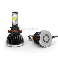 2015 newest 24w led headlight h1 h3 h4 h7 h8 h9 H11 9005 9006 car led headlight 2200 lumens