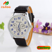 hot sale new fashion men genuine leather watches bracelet wristwatches six pin GW1703-5