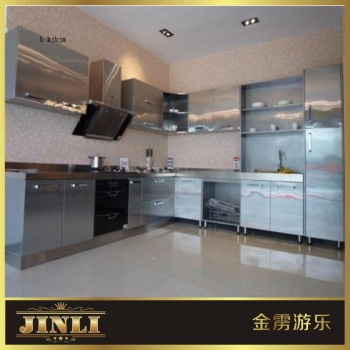 High End Water Resistant Customized Kitchen cupboard modular stainless steel kitchen cabinet