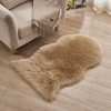 Factory wholesale long pile white faux sheepskin fur throw rug with cheap price