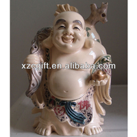 Religious Statues Polyresin Happy Buddha Crafts
