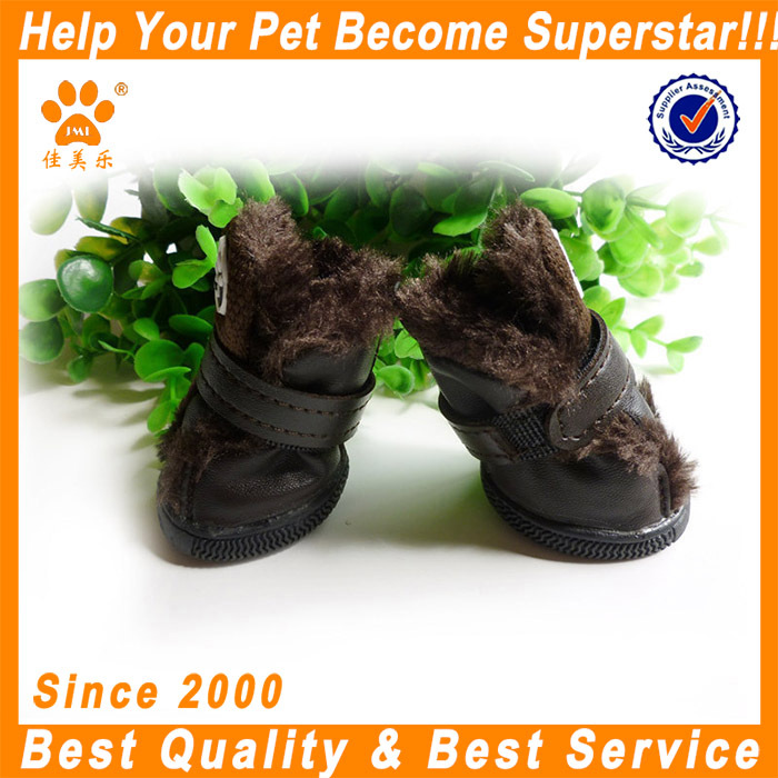 JML High qulity shoesfor lovely dog XXB1410 coffee pet supply dog winter shoes
