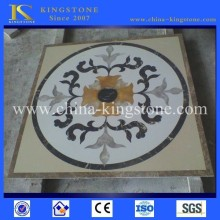 Hot Sell round stone water jet marble medallion Designs