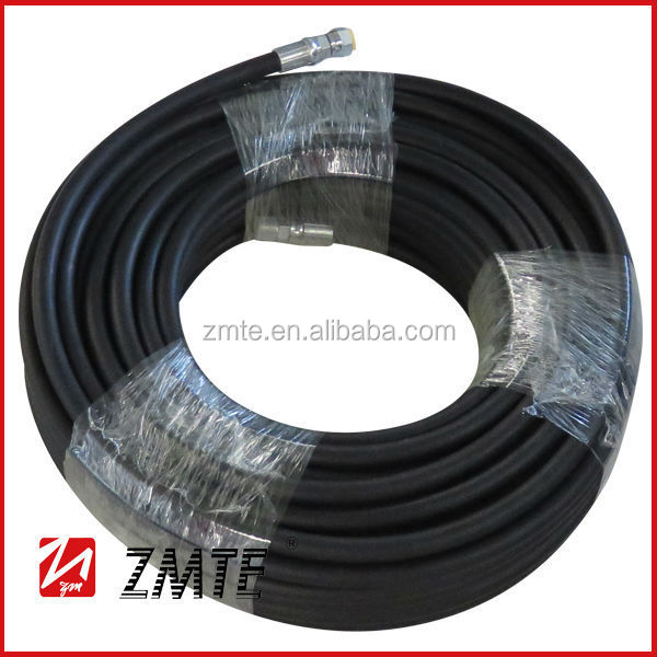 Steel wire reinforced high pressure rubber water hose