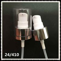Aluminum cream pump 24/410 metal foam soap pump, jet lotion pump for cream bottles