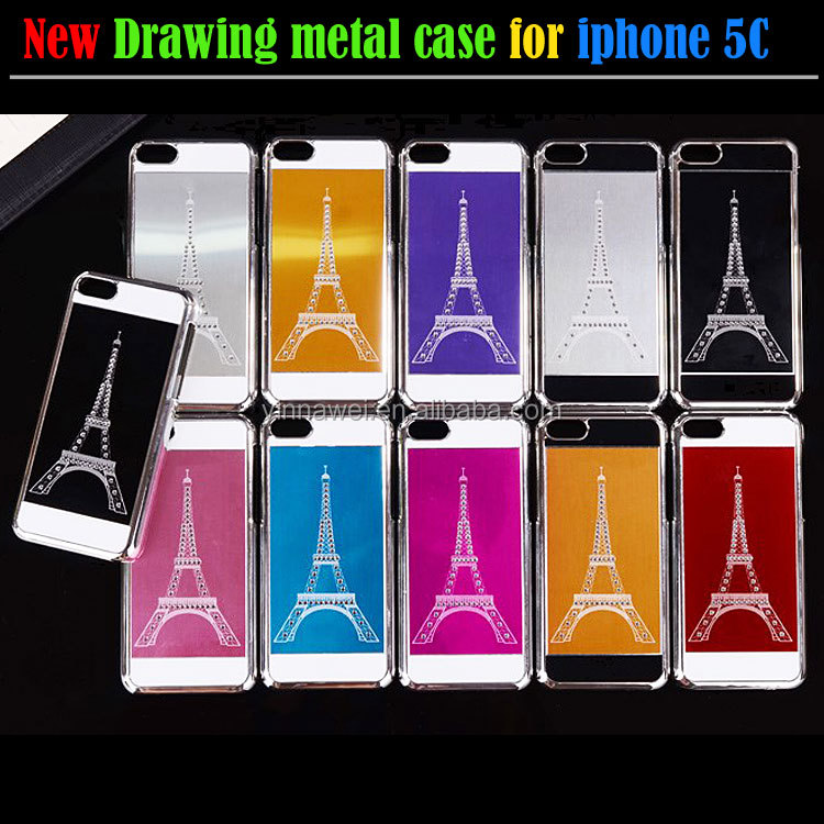 Fancy mobile phone covers for iphone5 Eiffel tower aluminum metal case