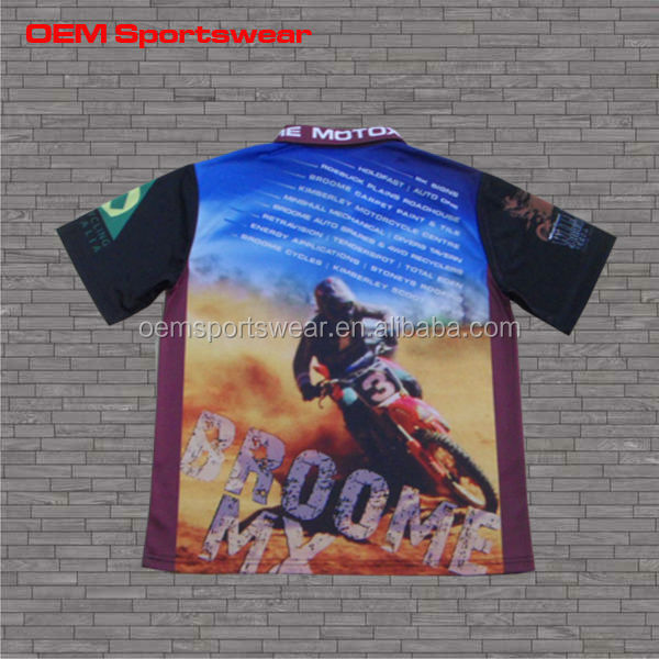 Popular custom sublimated motocross jersey, motor bike racing shirt