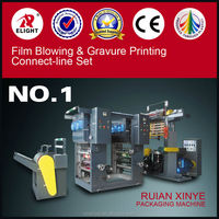 Polyethylene Film Blowing and Gravure Presses Printing Production, Blown PE film making machine