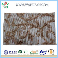anti slip chenille carpet backing types