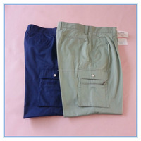 High quality cotton & polyester mixed fabric cargo pants; side pocketed and pure color pants combat pants