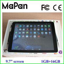 MaPan android 4.4 OS super slim tablet computer 9.7 inch, hot buy dual sim card 3g android smartphone