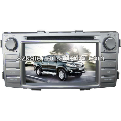 "6.2"" Car Auto Multimedia DVD Player for 2012 Toyota Hilux with 8CD Virtual,IPOD,PIP,TV and and Navigation"
