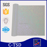 #C-TSD Transparent hologram foil with sparkle effect for fabric and textile stamping and leather handbag