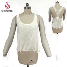 women summer clothing wholesale plain white tank top tank top stringer girls with tank tops