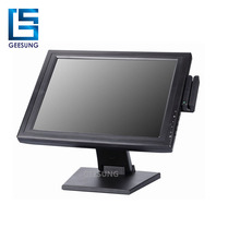 Alto Brilho Praça LCD Touch Screen Monitor de 15 Polegada