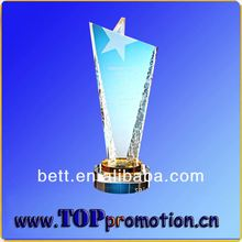 Hot sales high quality cheap Custom Shaped Acrylic Awards Trophy