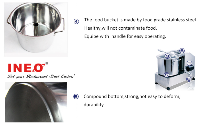 Food Cutting Machine To Cut Up Meat Or Vegetable(INEO are professional on commercial kitchen project)
