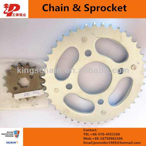 Brazil CG 150 TITAN 43/16T 428H-118L sprocket kit for motorcycle