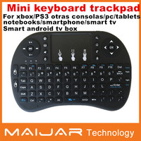 English language keyboard 2.4G Rii i8+ wireless mini keyboard Touch pad mouse Backlit Combo for Tv box tablet mini pc ps3
